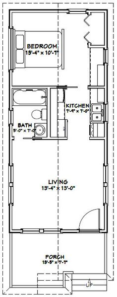 Tiny House Plans 12x36 tiny house floor plan | we both wanted a big kitchen & the