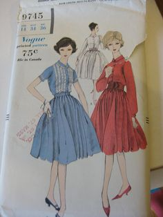 Vogue 9745 (this is my copy)