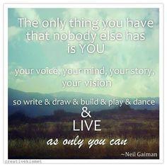 Live as YOU by Regina (creative kismet), via Flickr