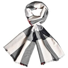 Women's Winter Lager Cashmere Scarf Tartan Checked Plaid Warm Wrap Shawl for Women or Men