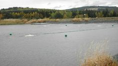 New Lake Bed Aquaerator Reduces Long Term Water Maintenance Costs .  Craigshead reservoir with Aquaerator in action