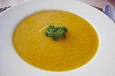 Healthy recipes for autumn: preparing pumpkin soup Thermomix Rice Soup, Potato Soup, Pumpkin Soup, Vegan, Butternut Squash, Thai Red Curry, Sweet Potato, Cauliflower, Slow Cooker