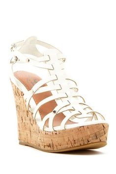 Carrini Strappy Wedge Sandal