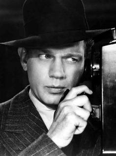 """Joseph Cotten in """"Shadow Of A Doubt."""" (Hitchcock 1943)"""