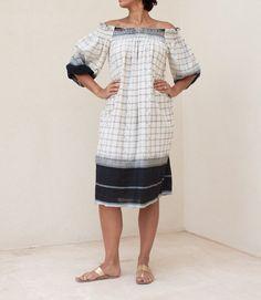 Checkered Flow Dress
