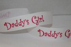1 YD Grosgrain Ribbon 7/8 Daddy's Girl by sksribbonsandmore, $1.15