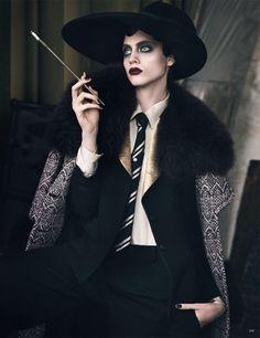 "Odette Pavlova in ""Amour Noir"" by Luigi + Iango for Vogue Germany, September 2016"