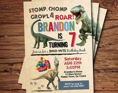 Invitación del cumpleaños del dinosaurio. Niño niños por CrazyLime