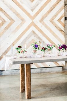 Cement topped tables by Farm Tables add an industrial chic to any wedding decor  http://www.sandiegowedding.com/blog/cement-topped-tables-by-farm-tables-add-an-industrial-chic-to-any-wedding-decor/2017/8/11