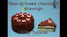 How to Make Polymer Clay Chocolate Shavings Video by Talty on DeviantArt Polymer Clay Miniatures, Polymer Clay Projects, Polymer Clay Charms, Dollhouse Miniatures, Clay Crafts, Portal Cake, German Baking, Clay Tutorials, Miniature Tutorials