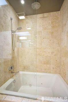 oversized tub shower combo. smaller shower bathtub combo Oversized tub  with light blue tile shelves