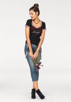 Lederhosen-esque jeans with braces