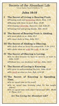 Secrets of Abundant Life, Bible verses and life applications Bible Study Notebook, Scripture Study, Bible Notes, Bible Scriptures, Niv Bible, Bible Teachings, Bible Doctrine, Bible Knowledge, Bible Lessons