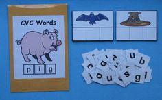 Teacher Made Literacy Center Resource Game CVC Words