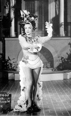 Carmen Miranda in a costume test for Something for the Boys, 1944.