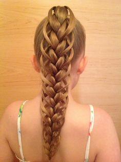 Feather braided ponytail