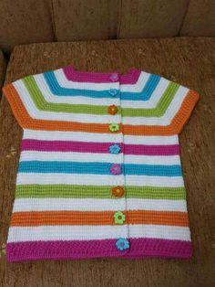 Saquito de crochet a colores