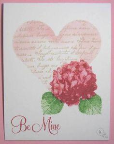 One Layer Valentine by Lynn McAuley. Kitchen Sink Stamps.