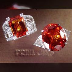 Yellow- Orange Sapphires. Prima Gems