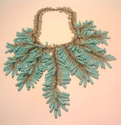 Miriam Haskell 1940s Frank Hess Festoon Beaded Necklace Book Piece | eBay