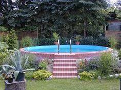 Stahlwandpool teilversenkt verkleiden  45 best Pool & Schwimmteich images on Pinterest | Pools, Swiming ...