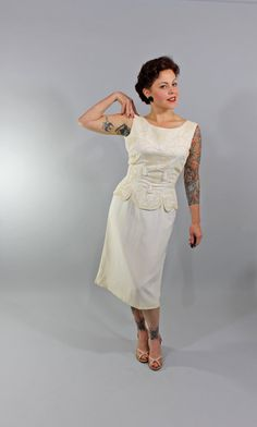 1950s Vintage DressWHISPER AND LOOK Summer by stutterinmama, $198.00