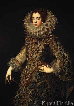 AKG Anonymous - Isabella von Bourbon / Gemälde 17.Jh.