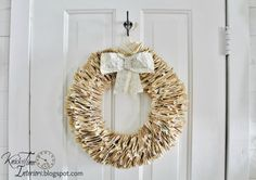 Book Page Wreath created from Antique Book Pages - Custom Made Large Wreath