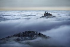 Brothers Grimm: Cloud inversion at castle