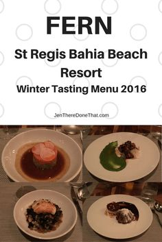 Fern restaurant at the St Regis Bahia Beach resort in Rio Grande, Puerto Rico Review, photos, and scrumptious video of the Winter Tasting Menu 2016.