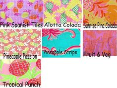 Lilly Pulitzer Line IDs - Fruits and Vegetable Prints