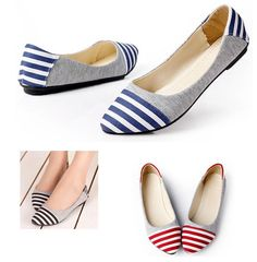 Oceanic Girl Striped Shoes