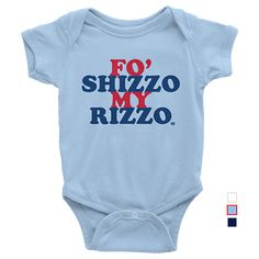 Support Anthony Rizzo in the best-looking Chicago Cubs onesie available anywhere! Printed on American Apparel Infant Baby Rib Short Sleeve One-Piece. Boutique-quality garment designed for maximum comf