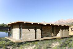 SDM-4 modular timber house for Swissline Design, Cape Town.