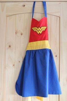 Wonder Woman Apron by Deanne Chambers at Little Feather Designs
