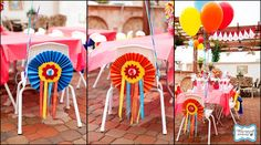circus party theme--love the chair decor