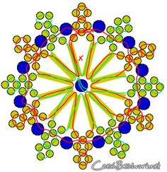Diagram for making the Snowflake | biser.info - all about beads and beaded work