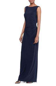 Main Image - Lauren Ralph Lauren Sequin Back Gown