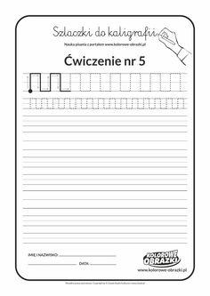 Kaligrafia dla dzieci - Ćwiczenia kaligraficzne / Szlaczki / Ćwiczenie nr 5