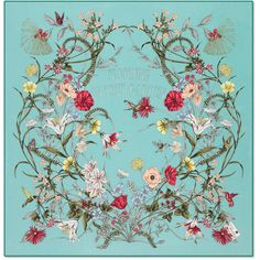 Silk Scarves, Green Scarves, Silk Shawl, Scarf Design, Floral Scarf, Egyptian Art, Green Silk, Silk Painting, Japanese Art