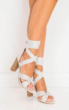 Billini -Bandera light grey suede  SHOWPO Fashion Online