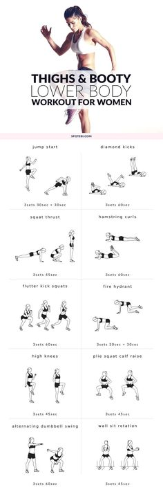 Sculpt your glutes, hips, hamstrings, quads and calves with this lower body workout. A routine designed to give you slim thighs, a rounder booty and legs for days! http://www.spotebi.com/workout-routi