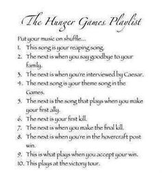 Okay heres mine- 1. Thriller by Michael Jackson 2. Old time rock and roll by Bob Seger 3. Stay by Rihanna 4. Tongue tied by Train 5. Misery covered by Glee 6. Eyes open by Taylor Swift (hahah) 7. Smells like teen spirt by Nirvana 8. Somebody that I used to know by Gotye 9. Mine by Taylor Swift 10. Primadonna by Marina and the Diamonds xD