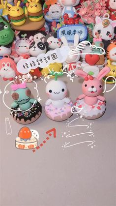 Paper Clay, Clay Art, Fuwa Fuwa, Clay Crafts For Kids, Cake Tutorial, Doll Furniture, Cool Diy, Polymer Clay, Embroidery