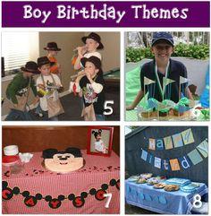 boy birthday theme ideas