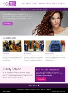 New responsive website design for CC's Hair Affair in Liverpool NY!  Check them out today for special promotions, and unbeatable prices!  http://liverpoolhairsalon.com/ www.acs-web.com