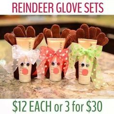 Reindeer glove sets Contact me today to order yours! Addy Fout (918) 764-6336 addyfout@marykay.com www.marykay.com/addyfout