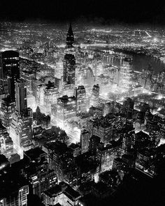 """thats-the-way-it-was: """" Midtown Manhattan - December Photo: Bill Meurer/NY Daily News """" Nyc Skyline, New York Daily News, My Kind Of Town, The Dark Knight Rises, Chrysler Building, Thats The Way, Aerial Photography, White Photography, Gotham City"""