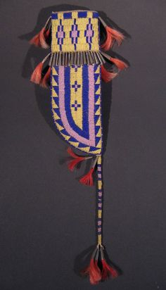 Beaded Plains Knife Sheath