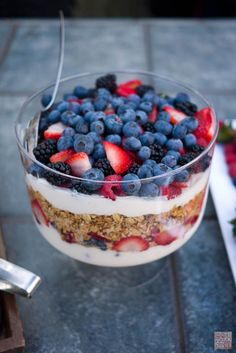 Yogurt and granola parfait!